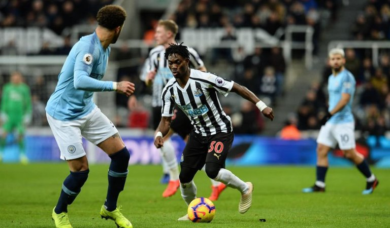 Christian Atsu Showers Praise On Teammates as Newcastle Dent Manchester City's title hopes with a 2-1 win