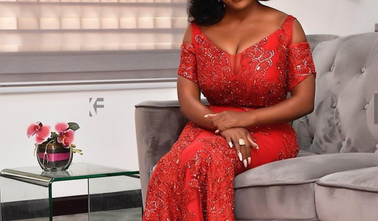 Nana Aba Anamoah Shares Her Beautiful Valentine Day Photos
