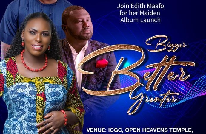 """Edith Maafo To Launch Her Debut Album """"Bigger Better Greater"""" on August 11, 2019"""